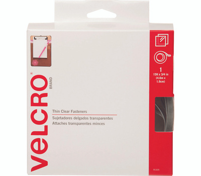 Velcro Brands 91325 Sticky Back 3/4 Inch By 15 Foot Clear Velcro Tape Dispenser