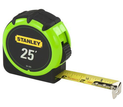 Stanley Tools 30-305 Hi-Vis 25 Foot Tape Rule
