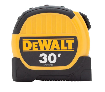 Stanley Tools DWHT36109 DeWalt Durable 1-1/8 Inch By 30 Foot Tape Measure With 10 Foot Standout