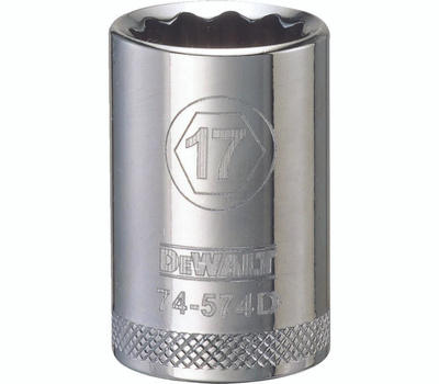 DeWalt DWMT74574OSP Socket 1/2in Drive 12pt 17mm