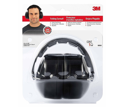 3M 90563H1-DC Folding Noise Reduction Earmuff Black