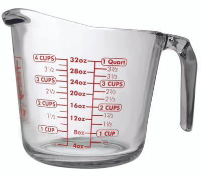 Anchor Hocking 55178AHG17 Cup Measuring 4 Cup