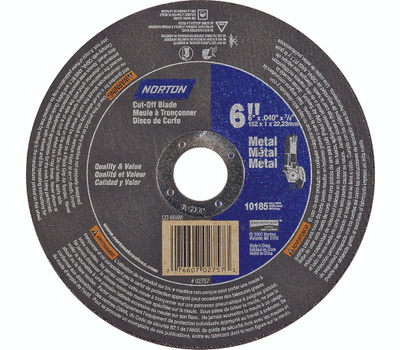 Norton 07660702757 Rightcut 6 By.040 By 7/8 Metal Aluminum Oxide Type 1
