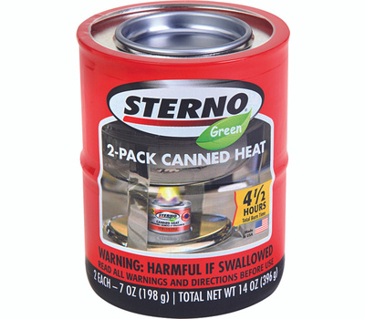 Sterno 20606 2 Pack Canned Cooking Fuel