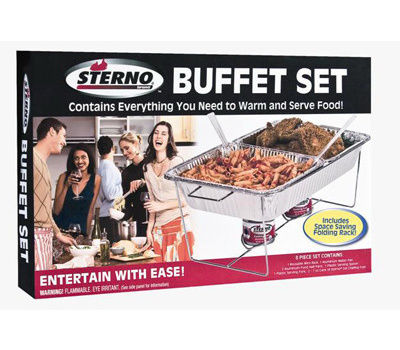 Sterno 70182 8PC Sterno Buffet Set
