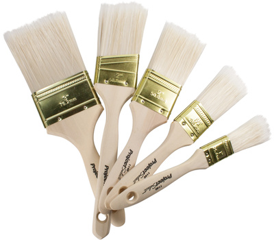 Linzer A11405 Project Select 5 Piece Natural Polyester Paint Brush Set