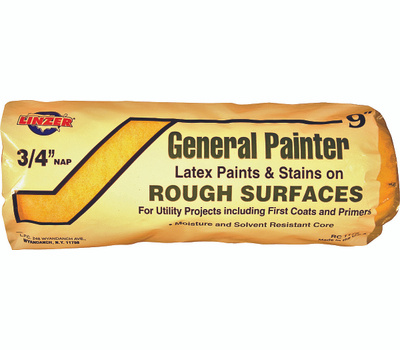 Linzer RC1175 General Painter 9 Inch 3/4 Inch Nap Utility Interior Roller Cover