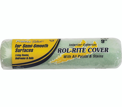 Linzer RR938-9 Rol Rite 9 Inch 3/8 Inch Pile Utility Semi Smooth Surface Roller Cover