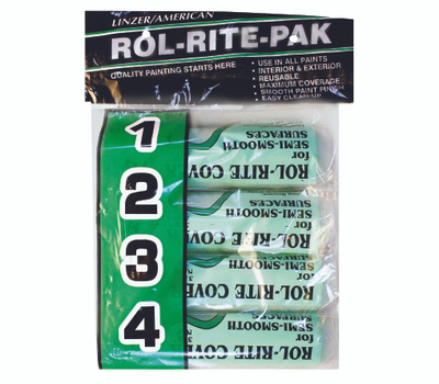 Linzer 9384-9 Rol Rite 9 Inch 3/8 Inch Nap Utility Roller Covers 4 Pack