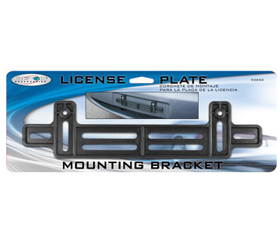 Custom Accessories 92650 Small License Plate Bracket Replacement