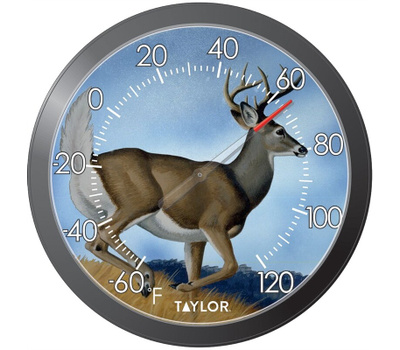 Taylor 6769 Thermometer Patio 13 Inch Deer