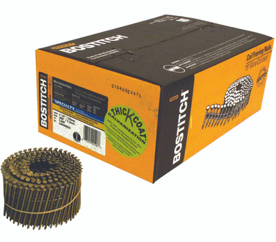 Stanley Bostitch C8R90BDG 2-1/2 Inch By 0.092 Galvanized Ring Shank 15 Degree Coil Siding Nails (Pack Of 3600)