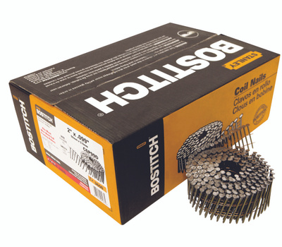 Stanley Bostitch C6P99D 2 Inch By 0.099 Smooth Shank 15 Degree Coil Framing Nails (Pack Of 3600)