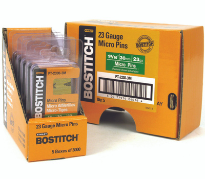 Stanley Bostitch PT-2330-3M 1-3/16 Inch 23-Gauge Headless Micro Pins (Pack Of 3000)