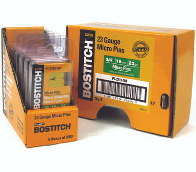 Stanley Bostitch PT-2319-3M Micro Pin Nails 3/4 Inch 23-Gauge 3000 Pack