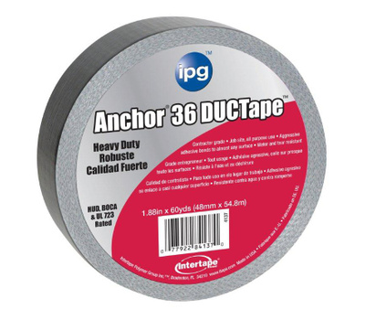 Intertape Polymer 4137 Anchor Duct Tape Contractor Grade 1 7/8 Inch By 60 Yards