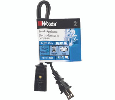 Coleman Cable 0293 18/2 Miniappliance Replace Cord