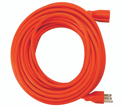 Coleman Cable 0517 Woods Contractor Grade Orange 50 Foot AWG 10/3 SJTW Extension Cord