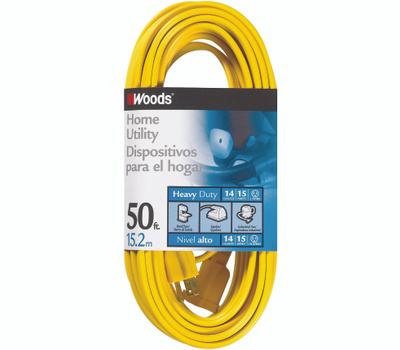 Coleman Cable 0835 14/3 By 50 Foot Single Outlet Extension Cord