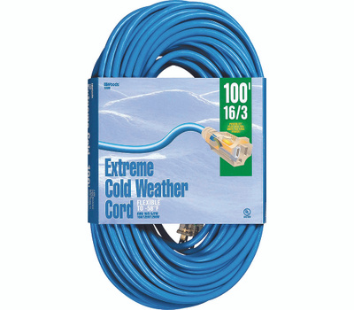 Southwire 2436 100 Foot 16/3 10 Amp Blue Coldflex Cord