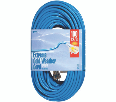 Southwire 2439 Cord Ext Cldflx 12/3x100ft Blu