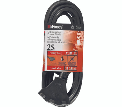 Southwire 2451 Agri Pro 25 Foot 14/3 Oil Resist Powerblock