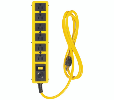 Southwire 5139N Yellow Jacket 6 Outlet Power Strip With 6 Foot Cord