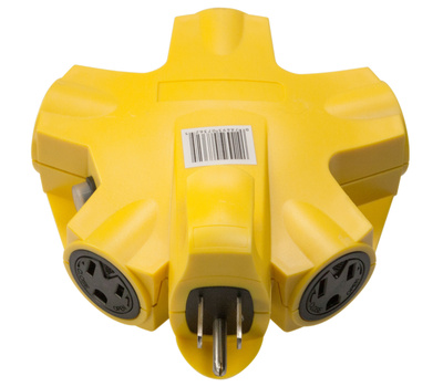 Coleman Cable 997362 Yellow Jacket 5 Outlet 15 Amp Powerlink Adapter