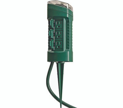 Southwire 13547 6-Outlet Power Stake Timer With Light Sensor And 4-Foot Cord