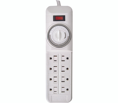 Coleman Cable 22575 Indoor 8 Outlet Power Strip With Timer