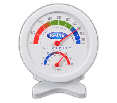 Best Air HG050-6/HG050 Hygrometer Indr Humidity Level