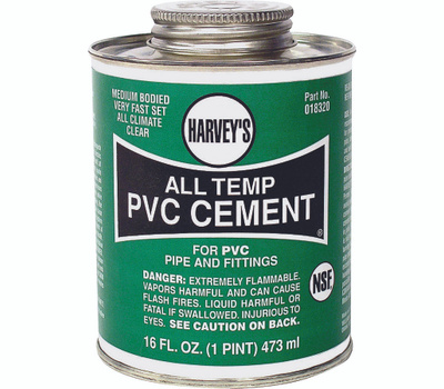 William Harvey 018320-12 Pvc Cement All Weather Clr 16