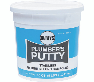 William Harvey 043105 5 Pound Stainless Plumbers Putty