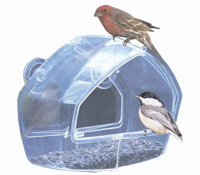 Perky Pet 348 Feeder Bird Window Clear 8 Ounce
