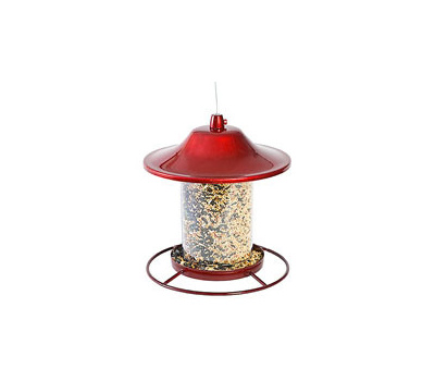 Woodstream 312R Perky Pet Birdfeeder Panorama Red 2 Pound