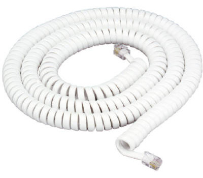 Audiovox TP282WN 25 Foot White Handset Cord (079000404255) [2]