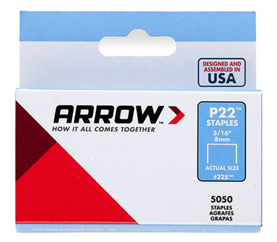 Arrow Fastener 225 5/16 Inch Arrow P22 Staples