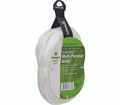 Lehigh Group 16363 6 By 100 Foot Solid Braided Nylon Rope