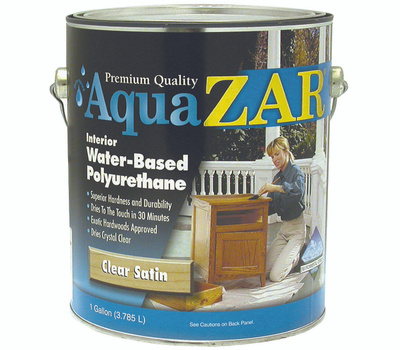 UGL 32513 Zar Clear Satin Interior Water Based Polyurethane Gallon