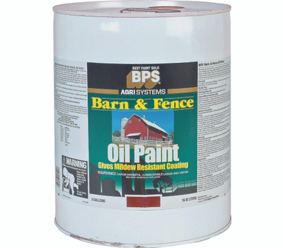 Valspar 018.2125-11.008 Barn & Fence Paint Barn Fence Oil Red 5 Gallon
