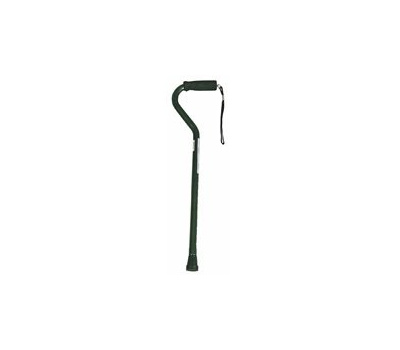 Medline MDS86420 Cane Offset Handle Alum Blk