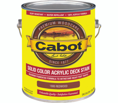 Cabot 1880 Stain Solid Acrylic Exterior Redwood Gallon