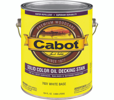 Cabot 7601 Stain Solid Oil Exterior VOC White Gallon