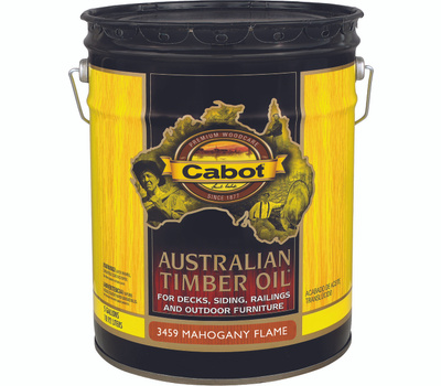 Cabot 3459 Oil Australian Timber Mahogany Flame 5 Gallon