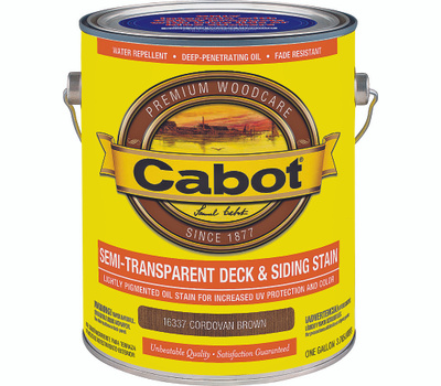 Cabot Valspar 16337 Gallon Brown Transparent Deck Stain