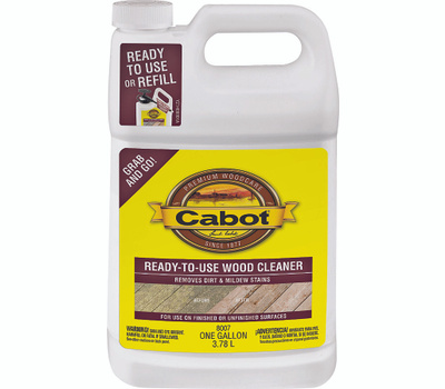 Cabot 8007 Problem Solver Cleaner Wood Rdy To Use Gallon