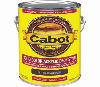 Cabot 1837 Stain Deck Acrylic Cord Brown