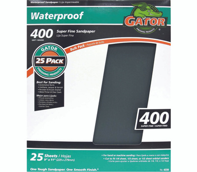 Ali 4239 Gator 9 By 11 Inch Waterproof Sandpaper 400 Grit Silicon Carbide