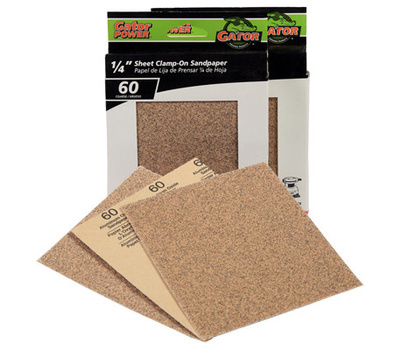 Ali 5133 Gator 4-1/2 By 5-1/2 Inch Multi Surface Sandpaper 60 Grit Aluminum Oxide 25 Sheets