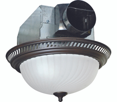 Air King AKLC701 70 Cubic Foot Per Minute Bronze Fan And Light Combo